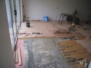 houten vloer verwijderen